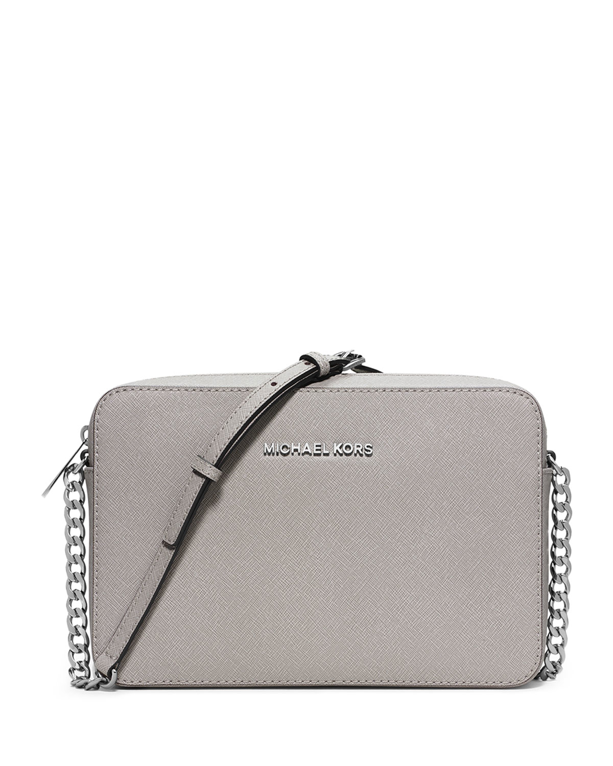 05389e2ee43b MICHAEL Michael Kors Jet Set Travel Large Crossbody Bag in Gray - Lyst