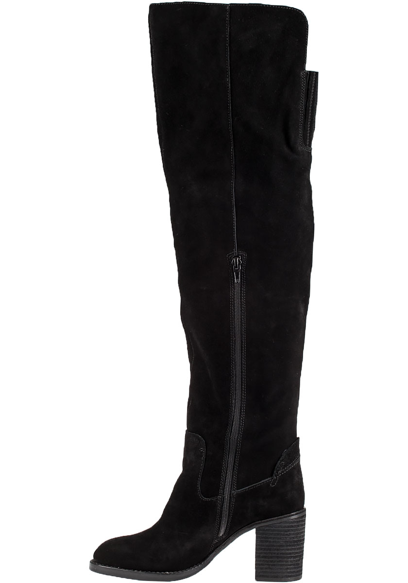 Jeffrey campbell Raylan Suede Knee-High Boots in Black | Lyst