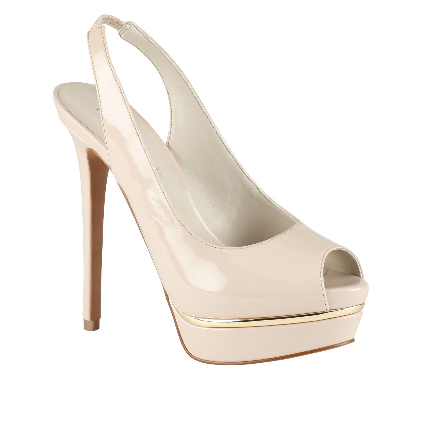 White Peep Toe Platform Heels