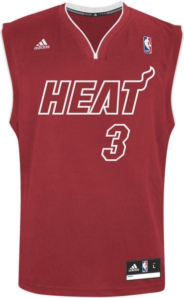 Adidas Dwyane Wade Miami Heat Rev 30 Replica Jersey In Red For Men Lyst