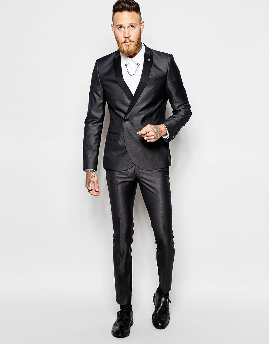 Noose and monkey Religion X Double Breasted Suit Jacket With