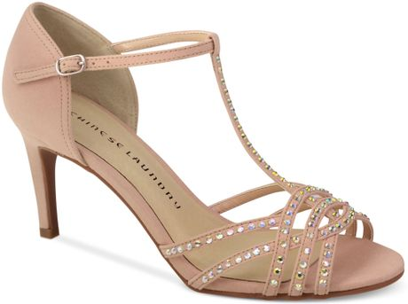 laundry kirstie dress sandals in pink blush lyst