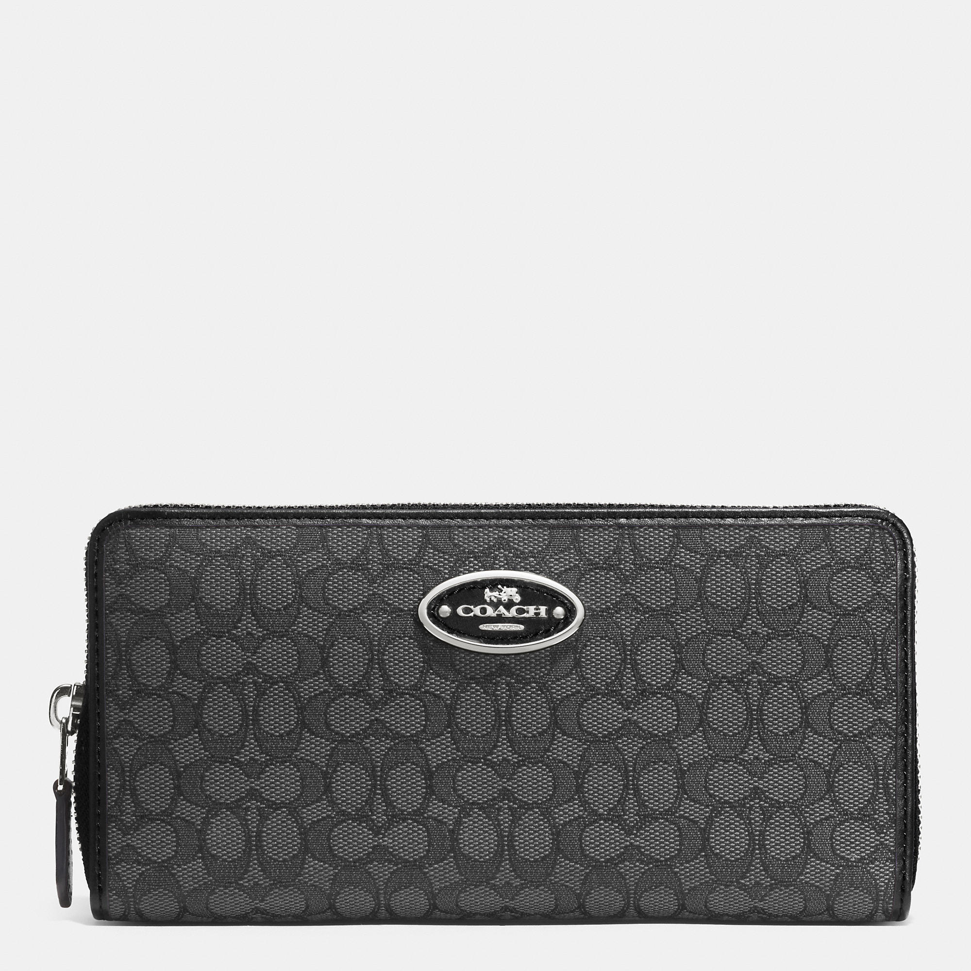 Lyst Coach Accordion Zip Wallet In Signature Jacquard In