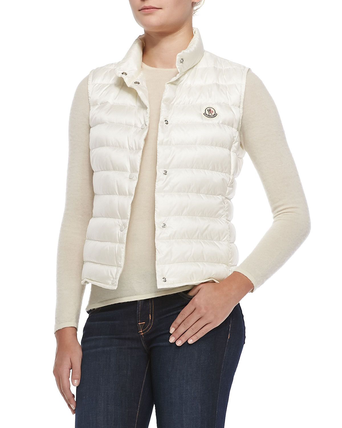 Gallery - Moncler Liane Puffer Vest In White Lyst