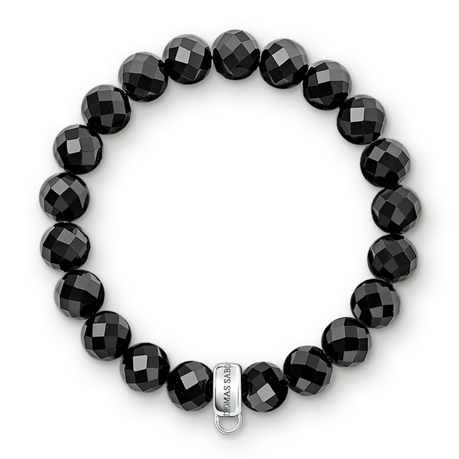 thomas sabo charm club black obsidian stone bracelet in. Black Bedroom Furniture Sets. Home Design Ideas