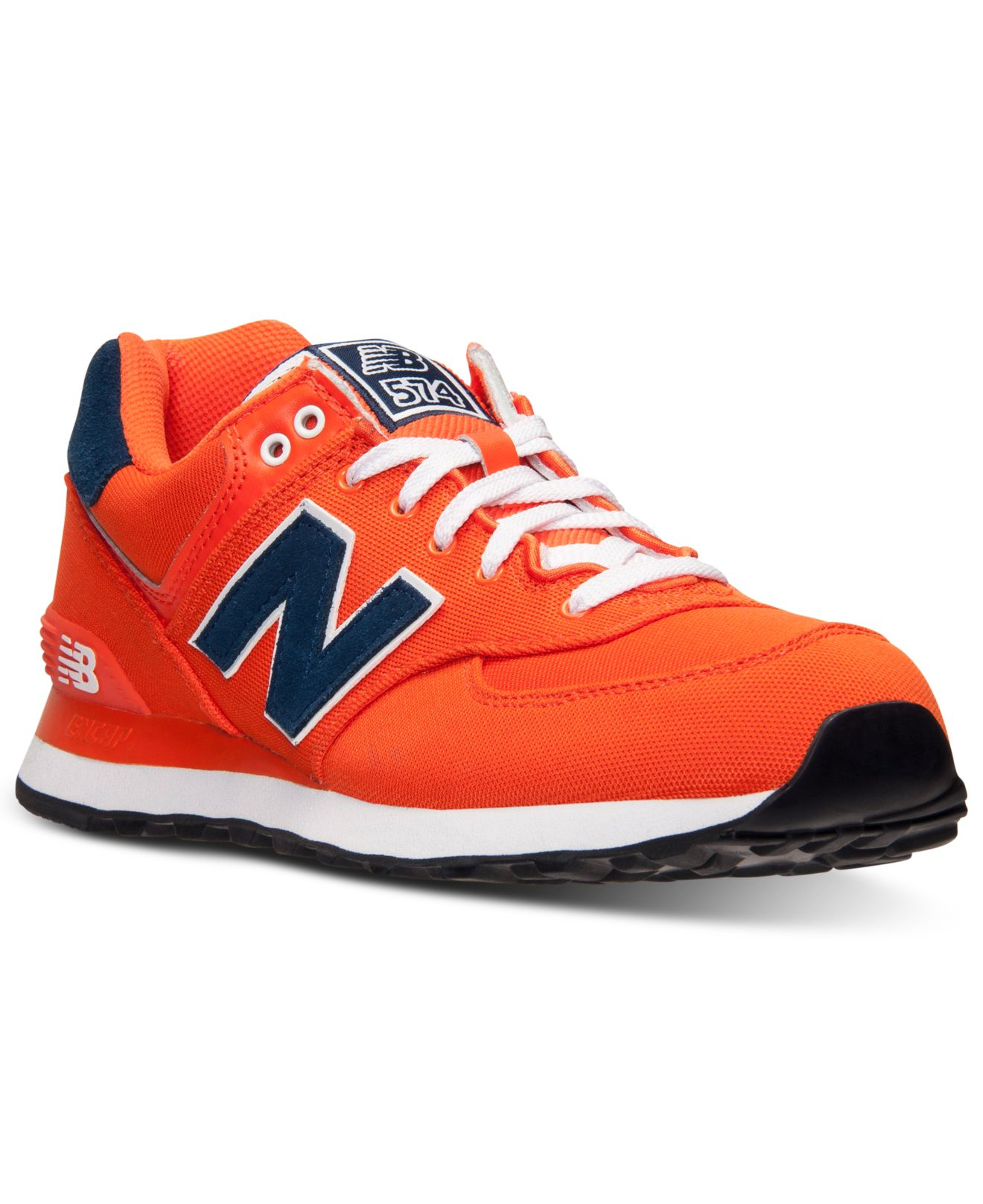 new balance mens 574 pique polo casual sneakers from finish line