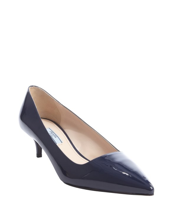 Lyst Prada Royal Blue Patent Leather Point Toe Kitten