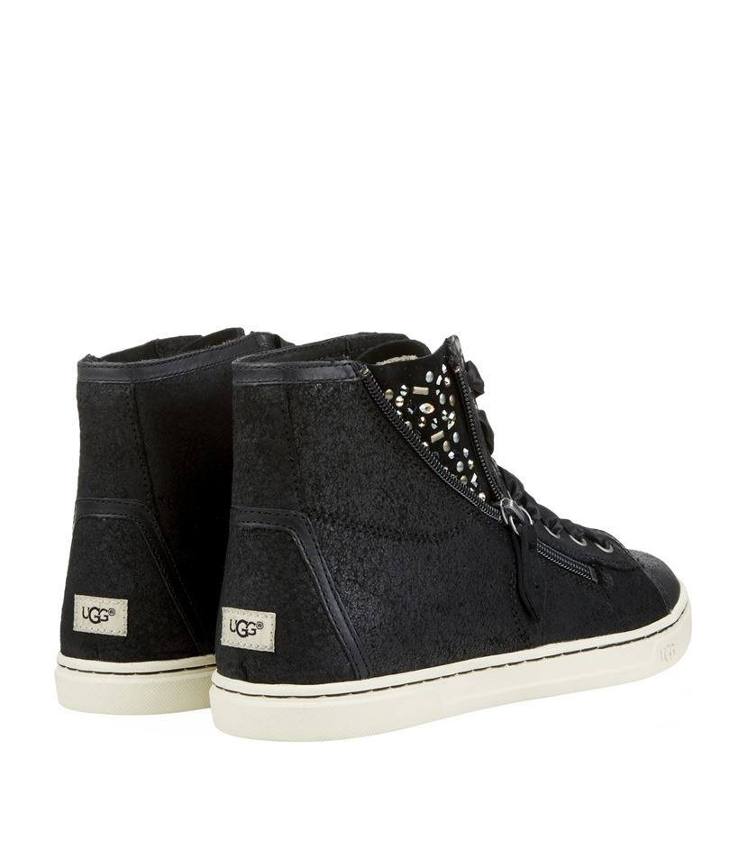 7c1a993507f UGG Blaney Crystals High-top Sneaker in Black - Lyst