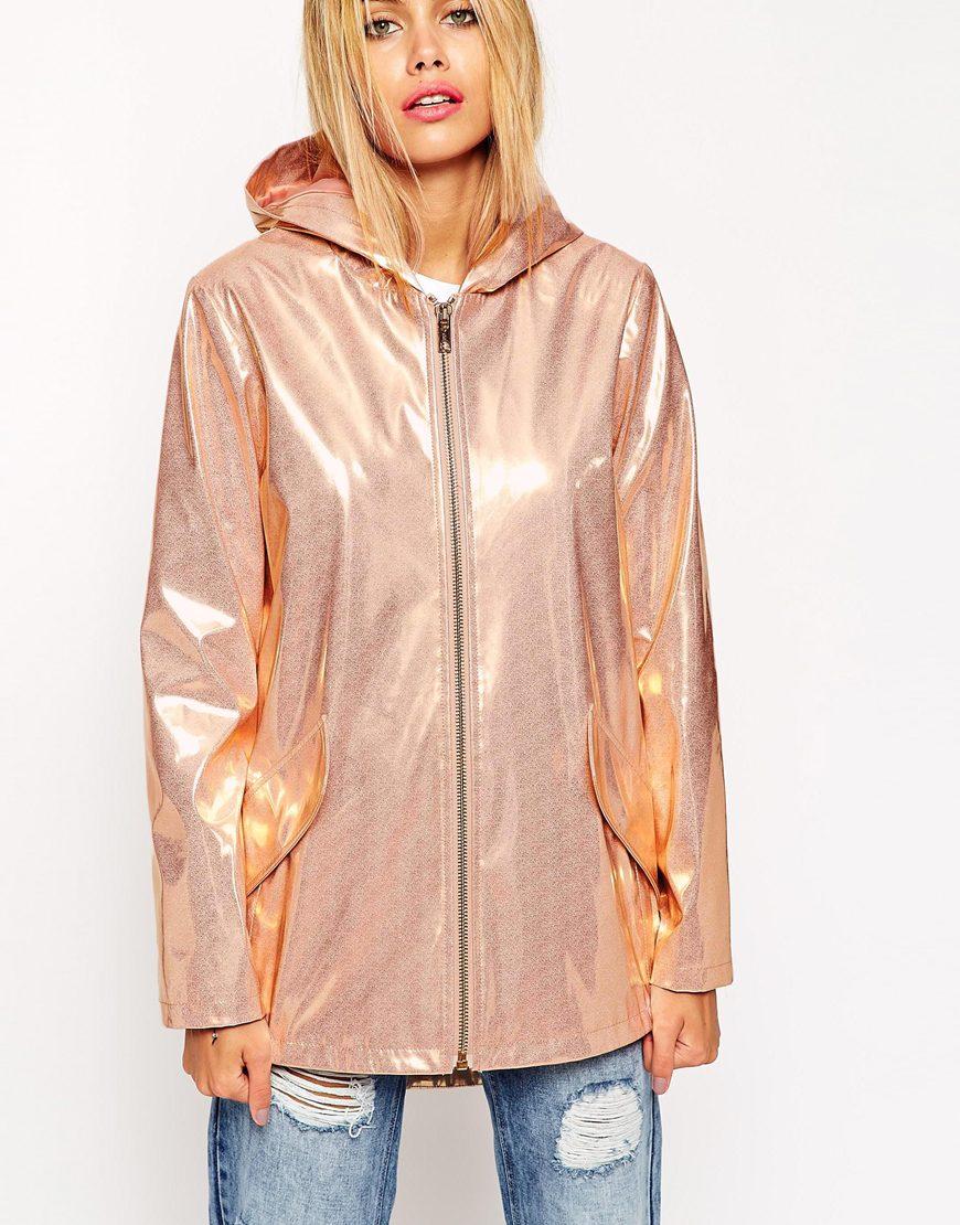 a few days away pretty cool good looking ASOS Rain Mac In Metallic High Shine