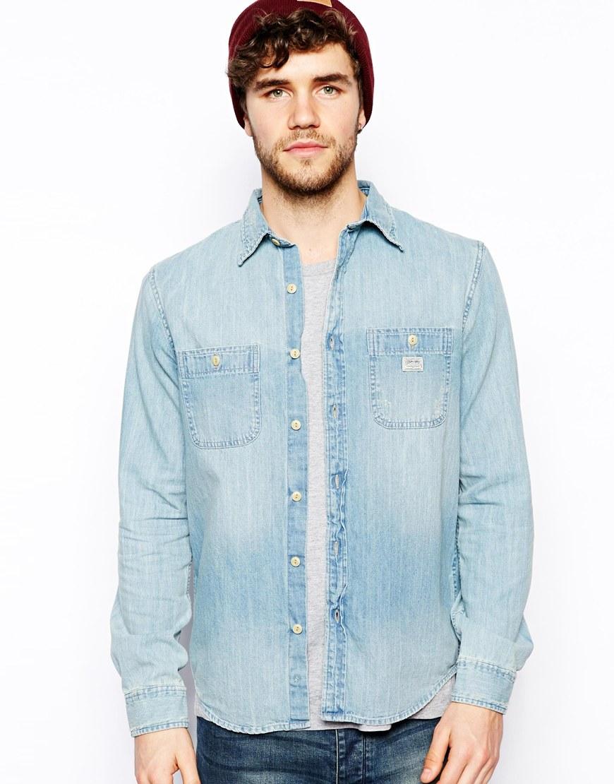 b4bf15a2d0 Lyst - Ralph Lauren Denim Supply Ralph Lauren Denim Shirt in Blue ...