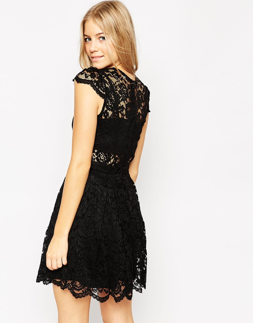 Bras Black Mini Dress