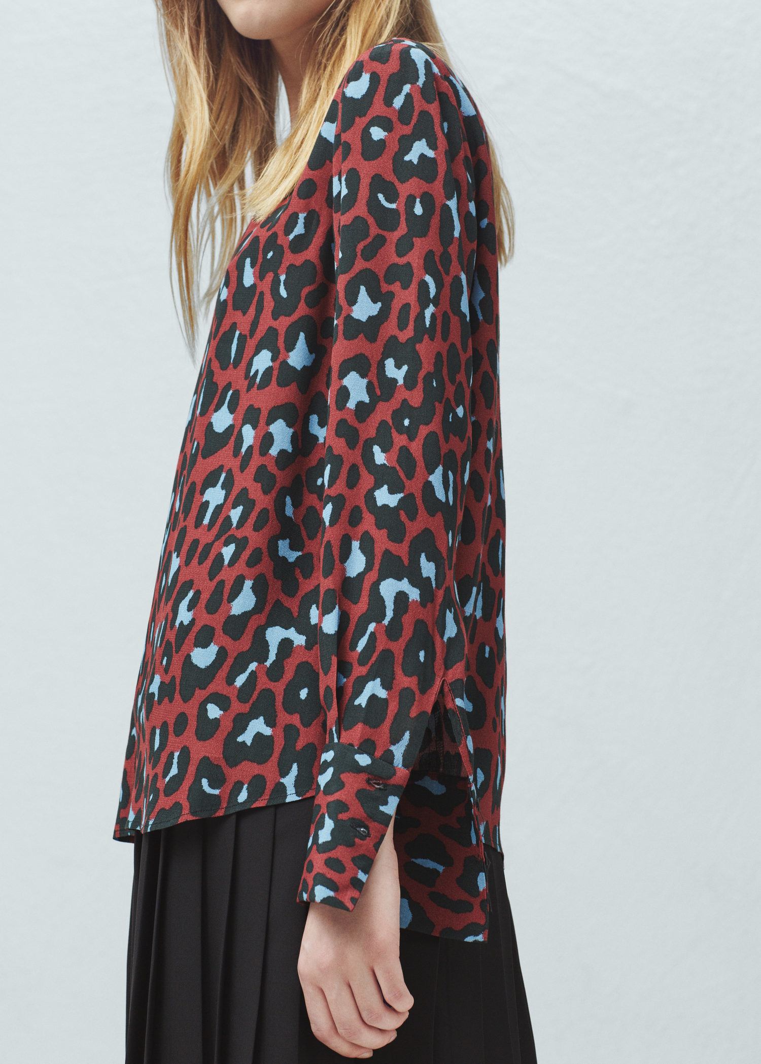 8ade0ded0521a2 Lyst - Mango Animal Print Blouse in Red
