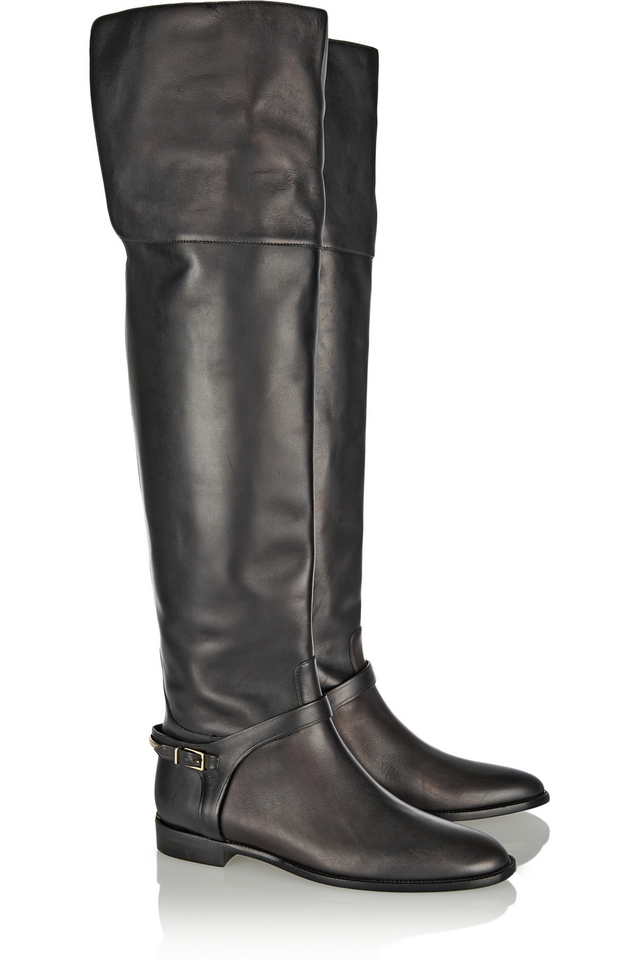 e4e602d4929 Lyst - Burberry Leather Over-The-Knee Boots in Black