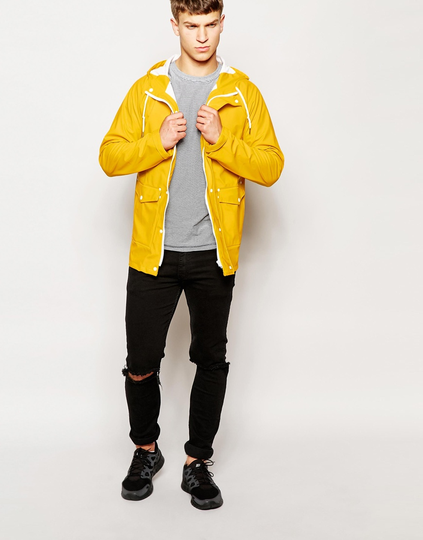 Another influence Waterproof Hooded Rain Jacket in Yellow for Men ...