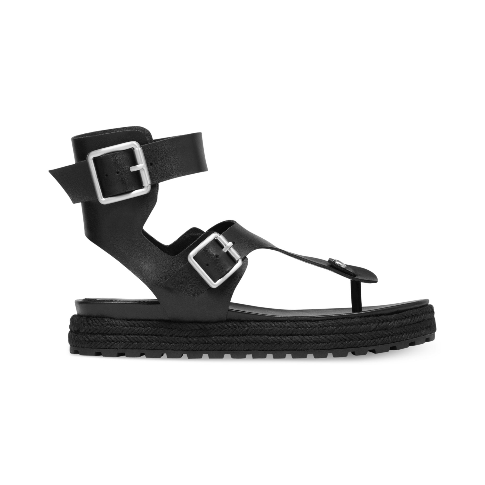 ded18f7f61dd Lyst - BCBGeneration Edmund Flatform Thong Sandals in Black