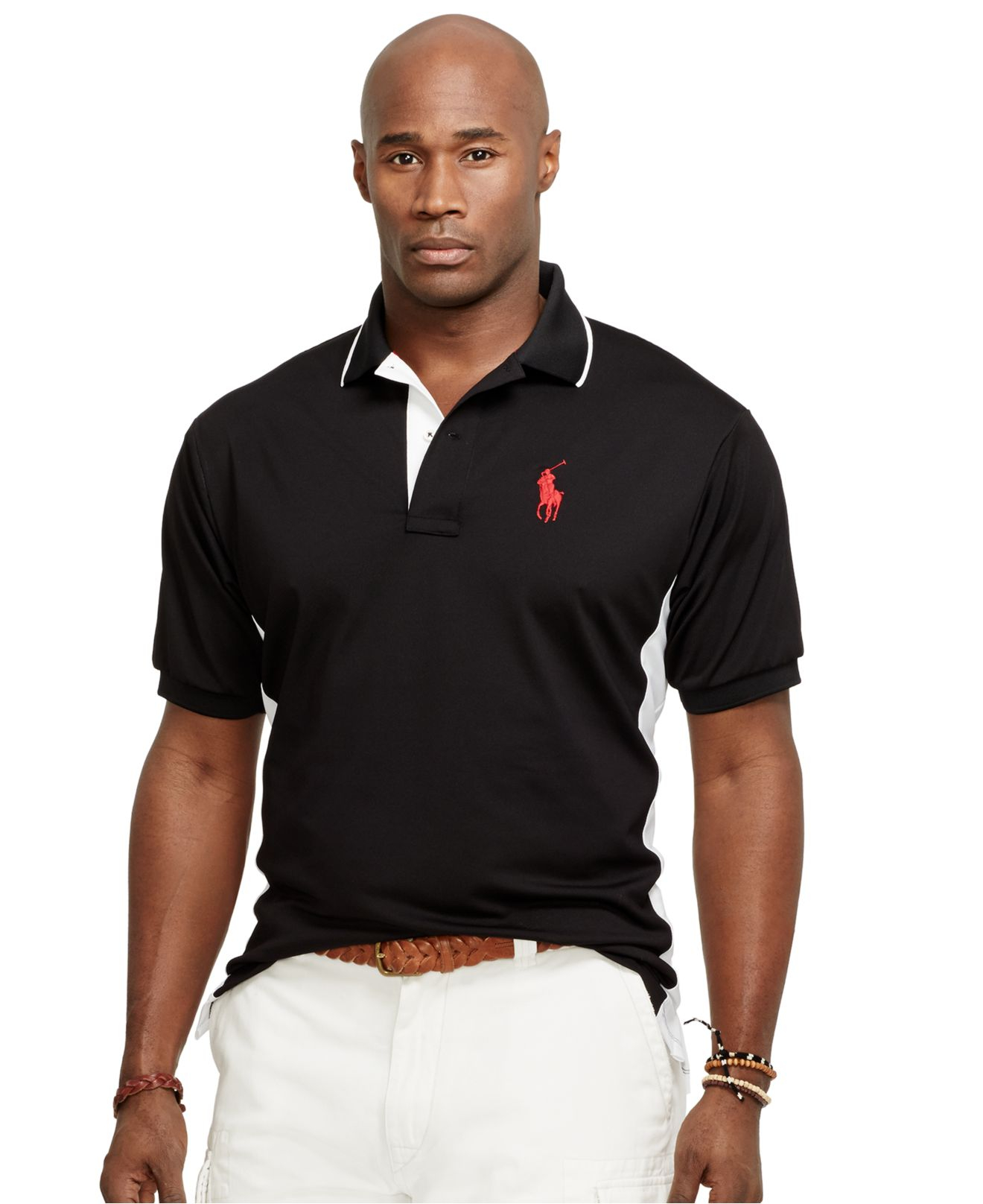 Lyst polo ralph lauren big and tall color blocked Man in polo shirt