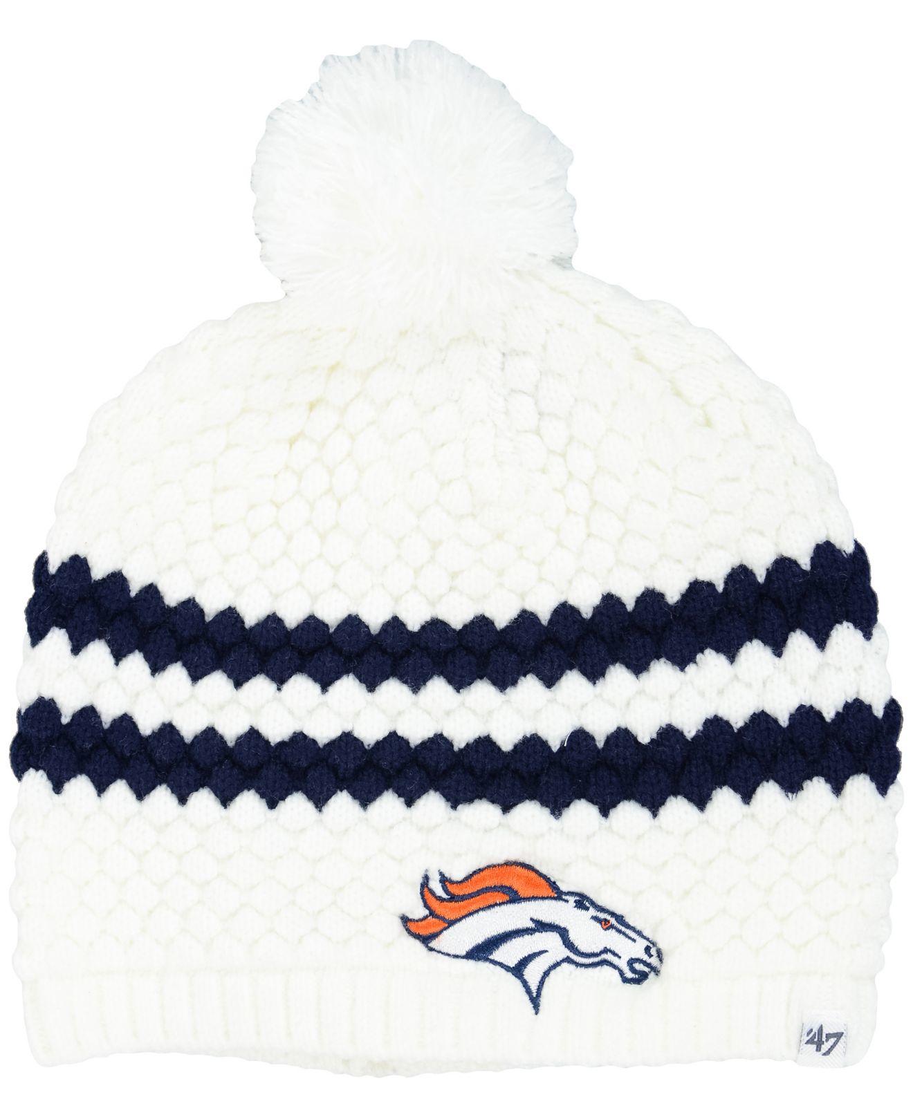 ... spain lyst 47 brand womens denver broncos kendall knit hat in blue  b78e8 0bc65 ... 0b231c2b4