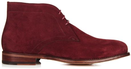 paul smith suede desert boots in purple for