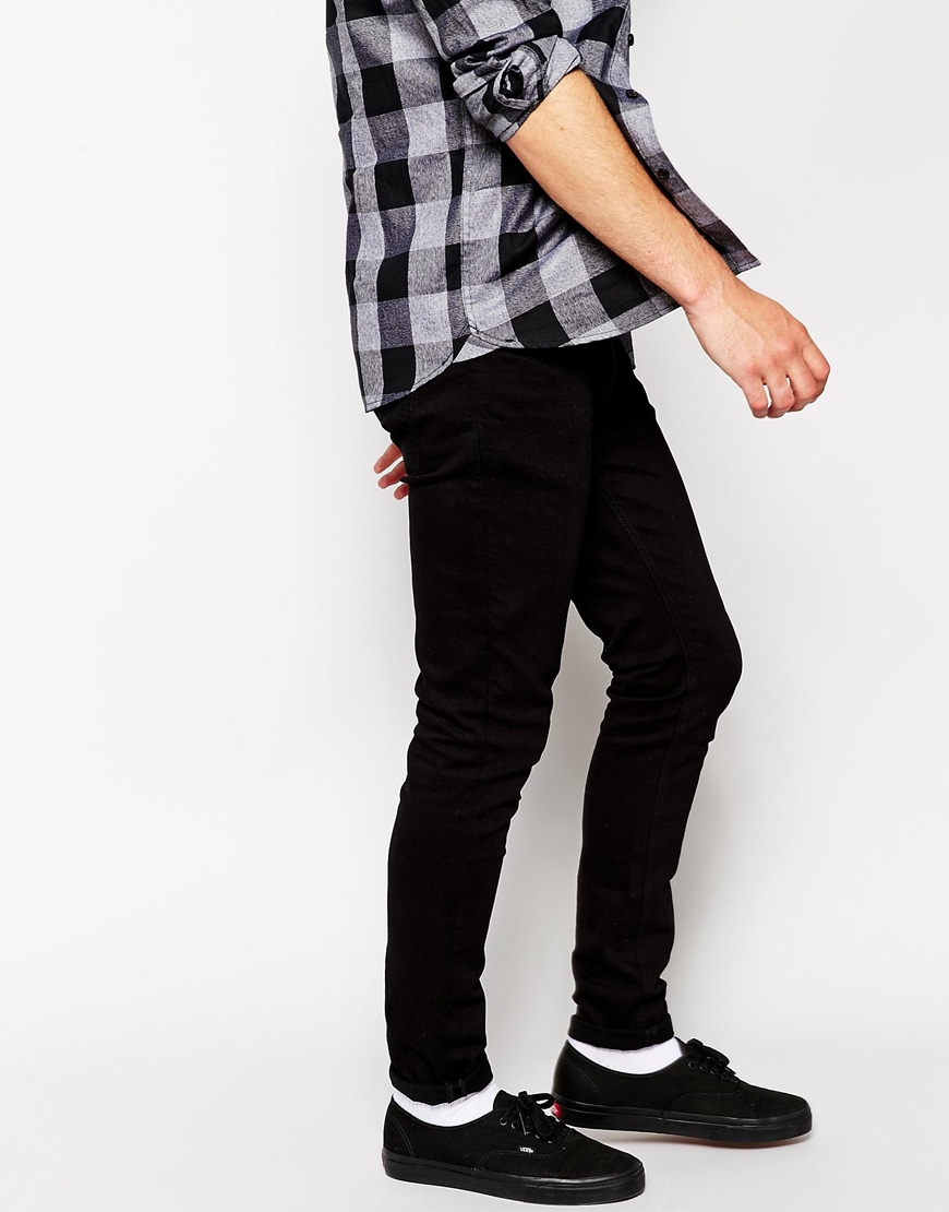 3d5424e3b65f Lyst - Nudie Jeans Skinny Lin Skinny Fit Black Black in Blue for Men