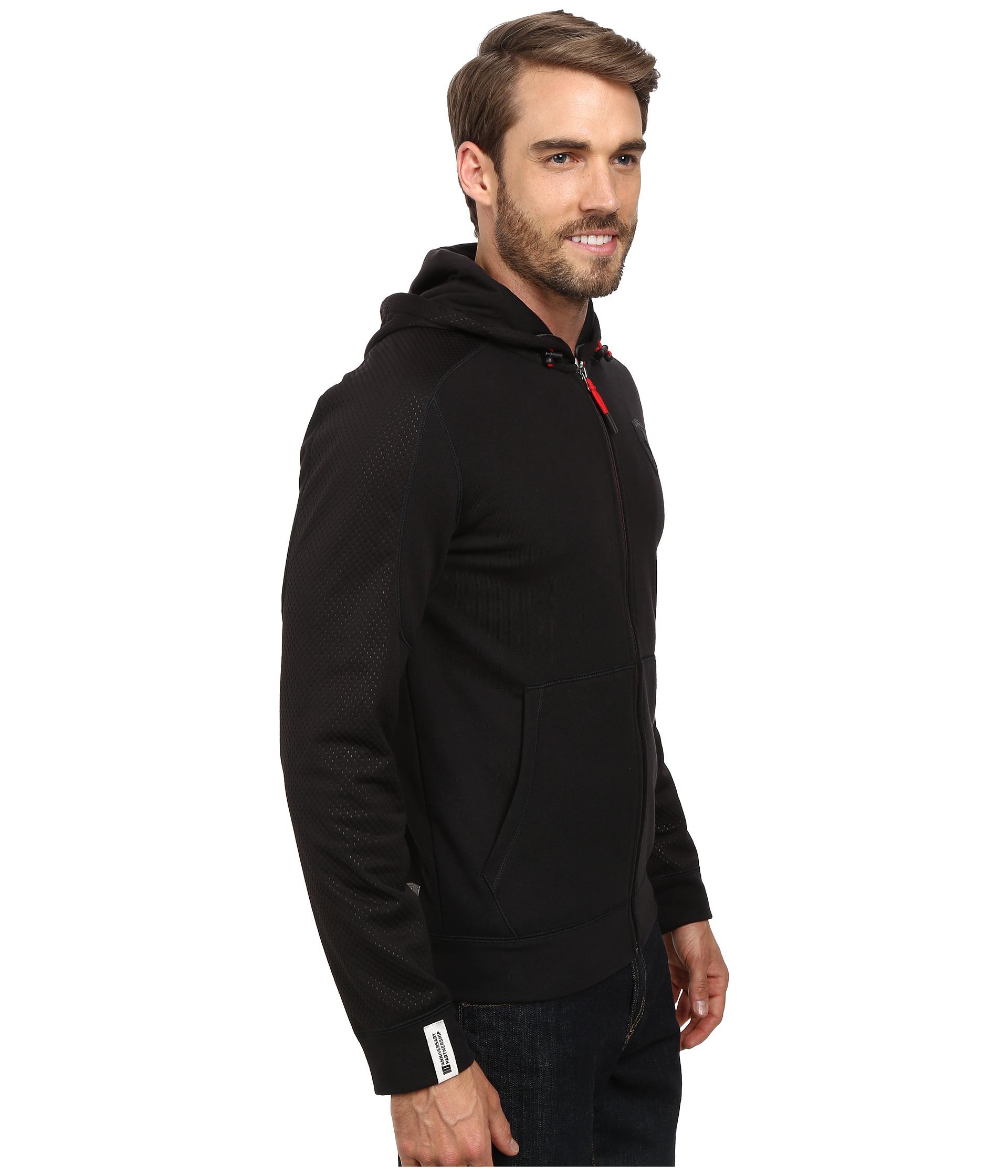 Puma Ferrari Hooded Sweat Jacket In Black For Men (Black 2