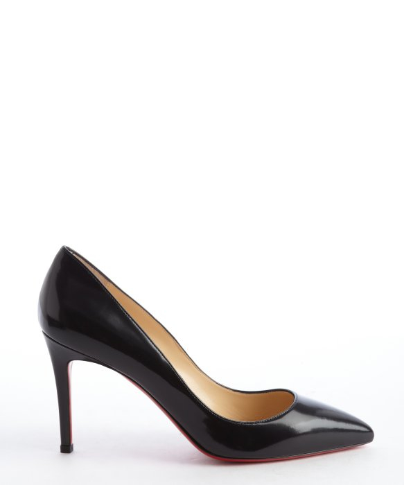 christian louboutin patent round-toe wedges