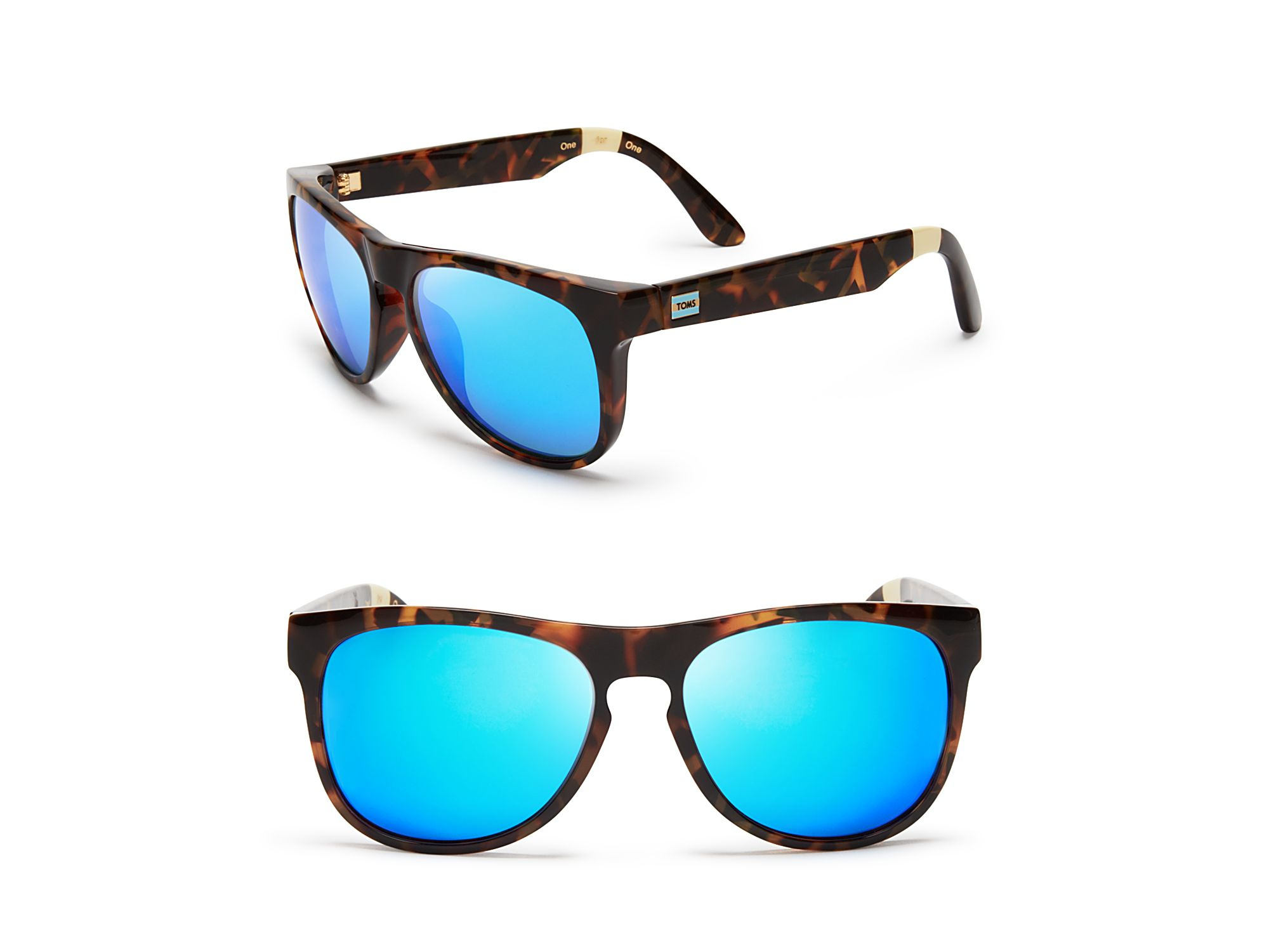 b2508e067641 TOMS Phoenix Mirrored Sunglasses in Blue - Lyst