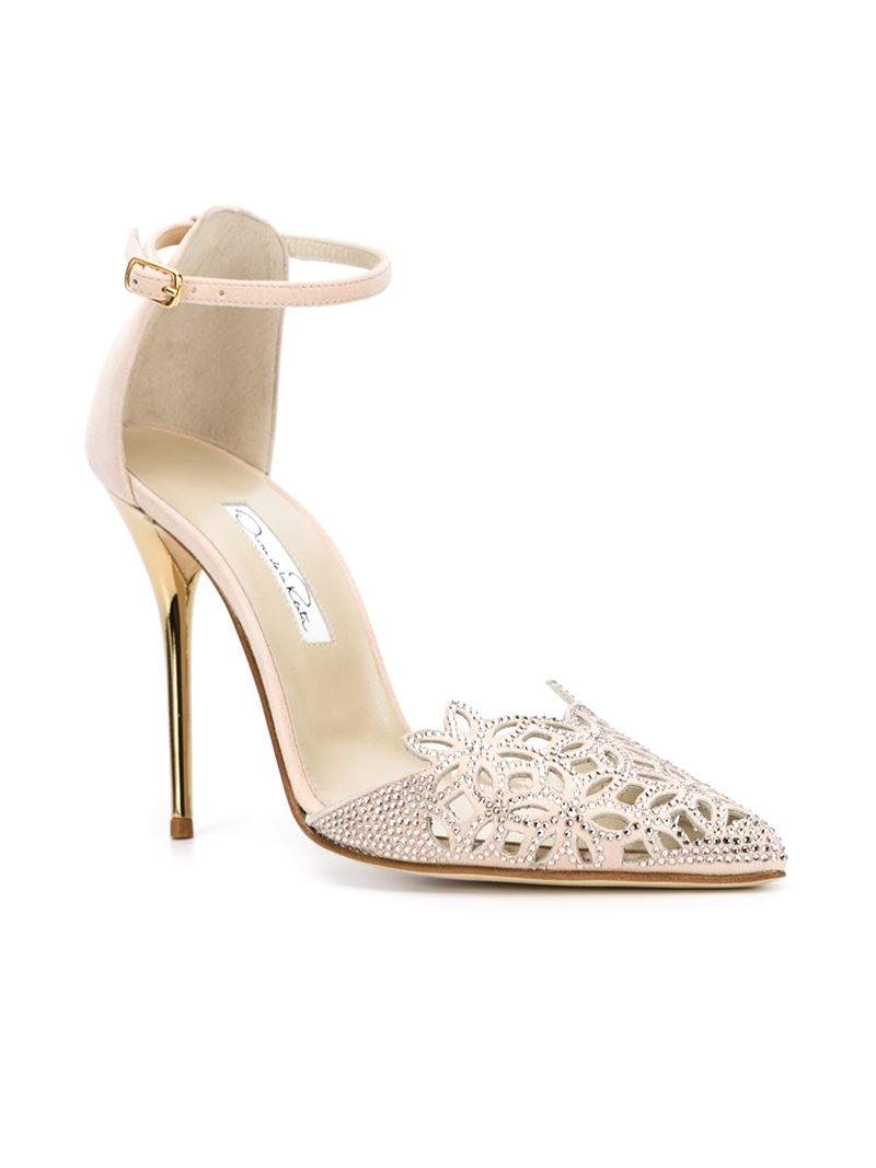 perfect online Oscar de la Renta Embellished T-Strap Sandals clearance reliable cheap under $60 order cheap online cheap sale prices XvmsaznTf