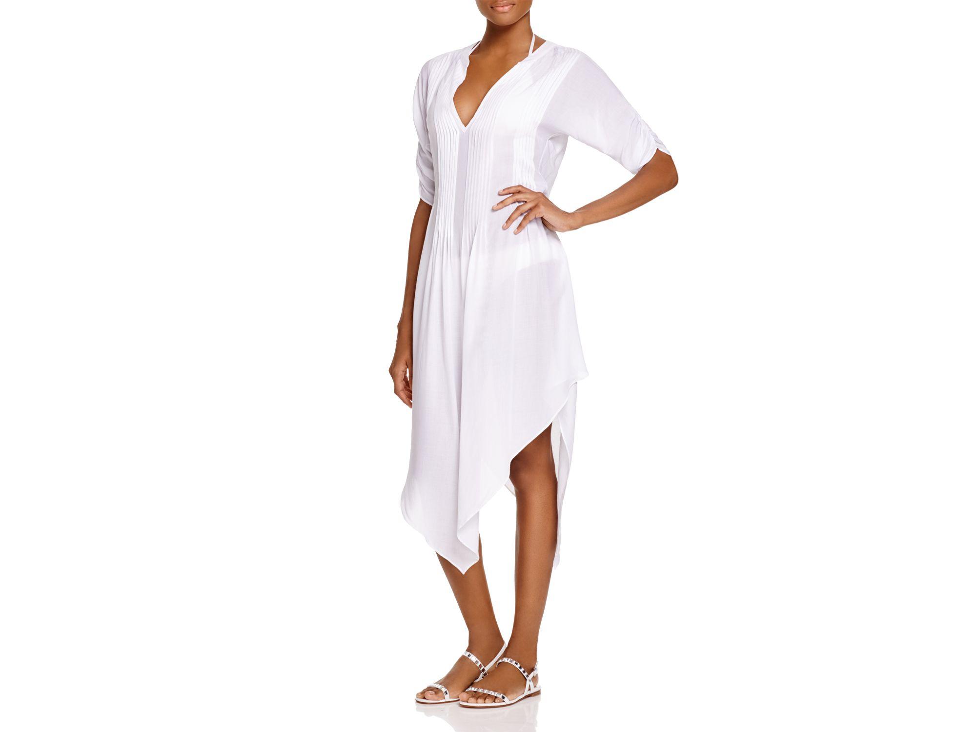 ca046c4f7e3bc Lyst - ViX Thai Tunic Swim Cover Up in White