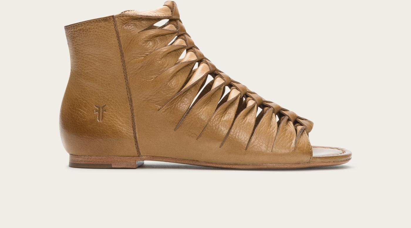 Frye Marlene Twisted Sandal In Beige Camel Lyst