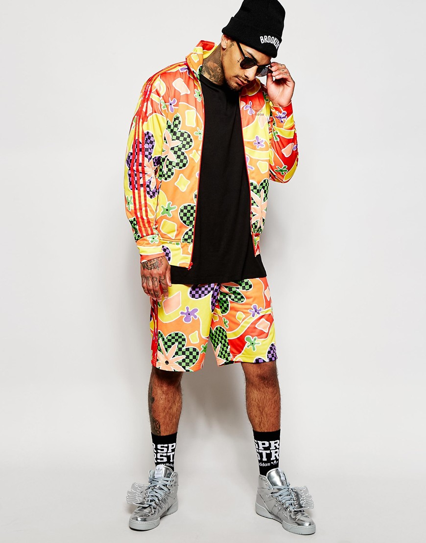 adidas Originals X Jeremy Scott Floral Shorts Ac1821 in Red for Men ... aa95a2855