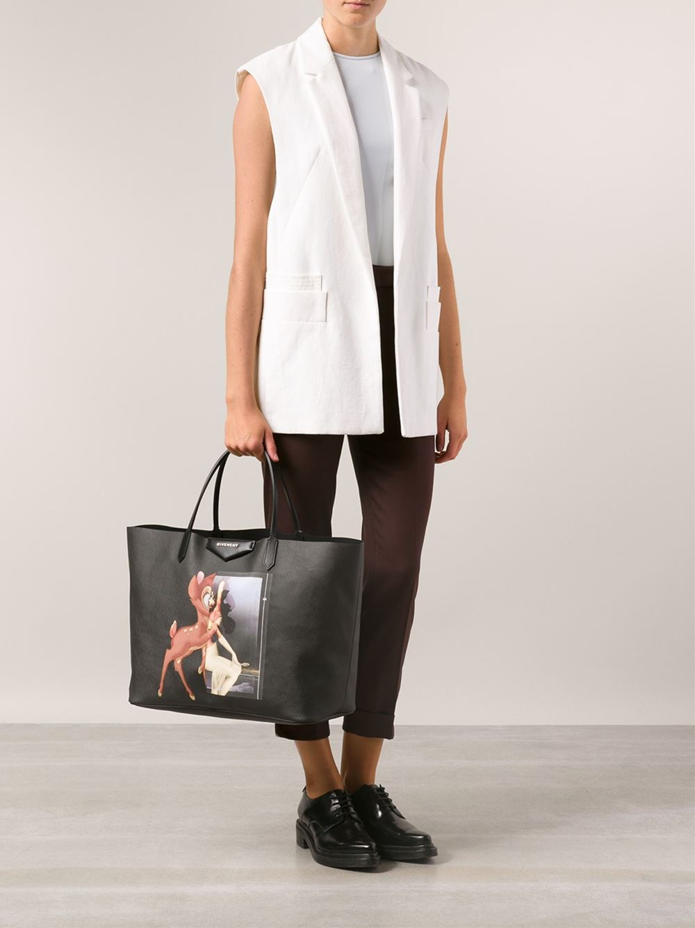 ... new arrival 715c8 ae2cc Givenchy Antigona Shopper Tote in Black - Lyst  ... f6a2d2926e