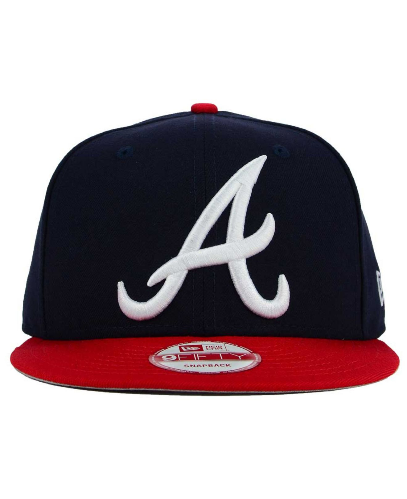 8f420af2 ... real lyst ktz atlanta braves biggie 9fifty snapback cap in blue for men  99901 d386c