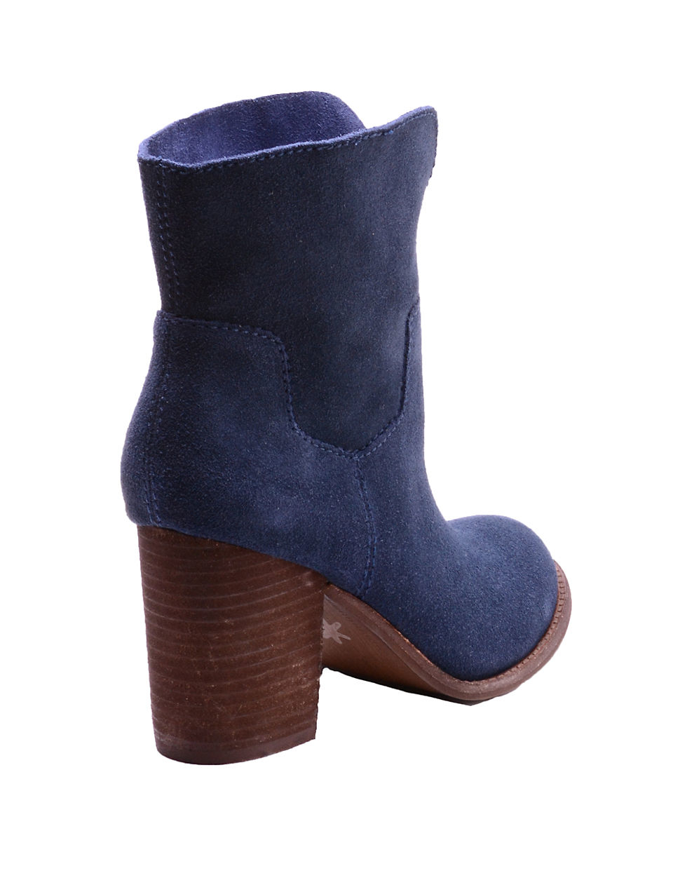 splendid addie suede ankle boots in blue lyst