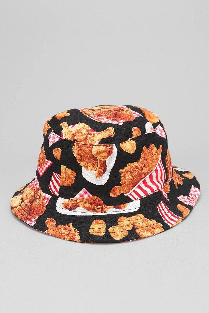 Lyst - Milkcrate Athletics Fried Chicken Bucket Hat in Black for Men 1e4374a47d3