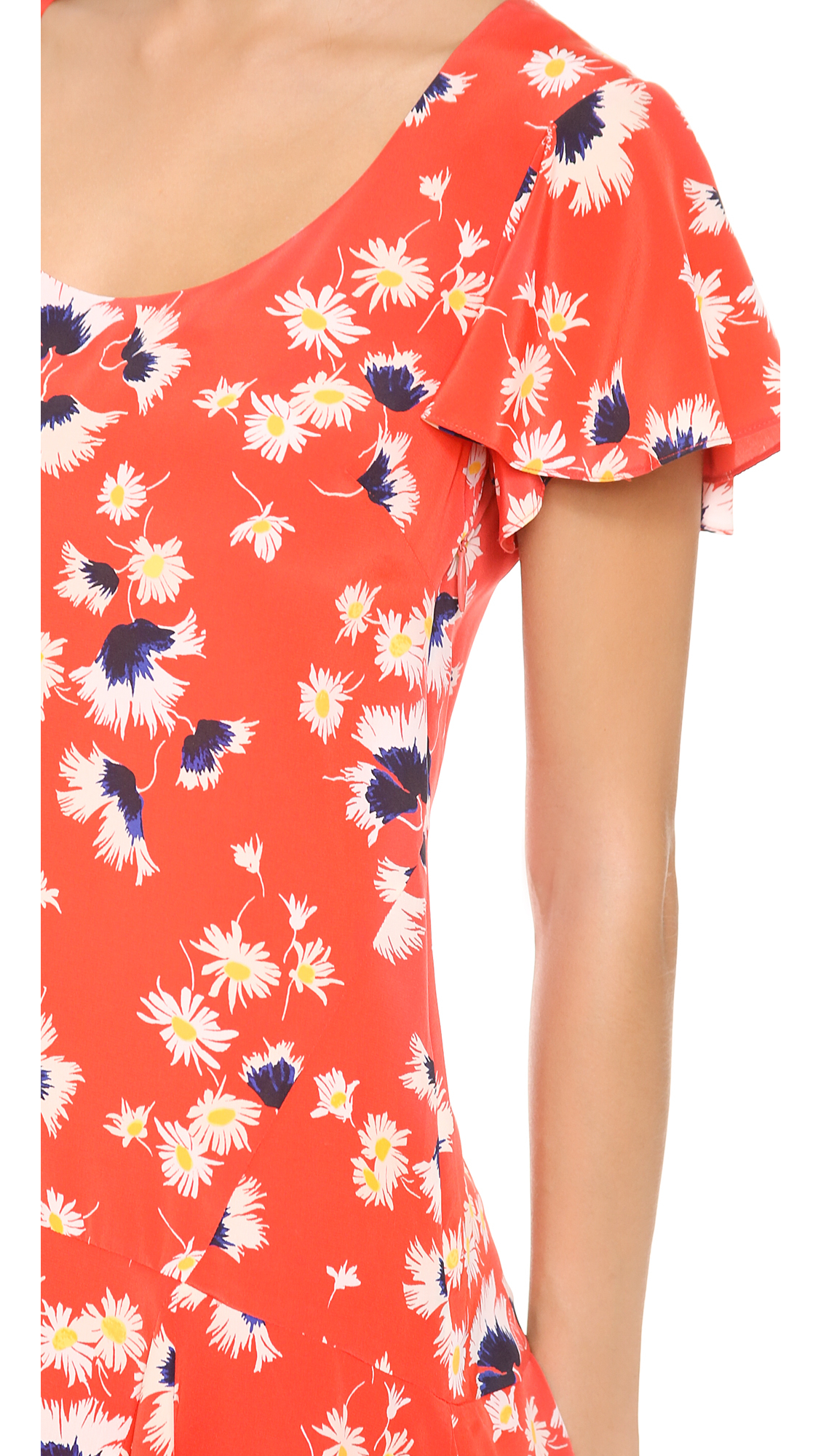 78e43c2dbc Juicy Couture Feather Floral Dress in Orange - Lyst