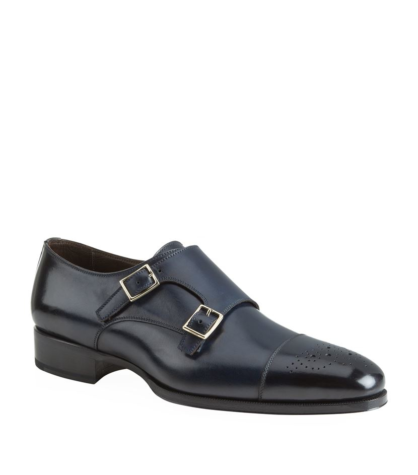 Double-Monk calfskin Finished dark grey Tom Ford Xrhj8C