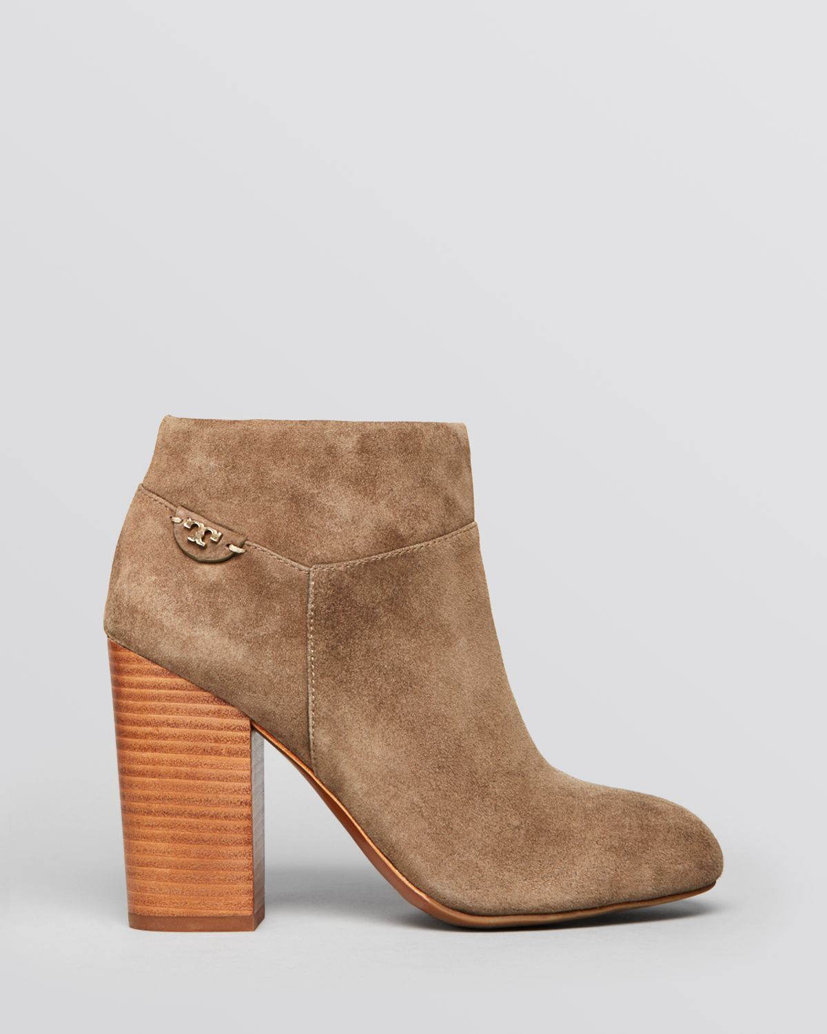 3a52e2a5acb Lyst - Tory Burch Booties - Fulton High Heel in Brown