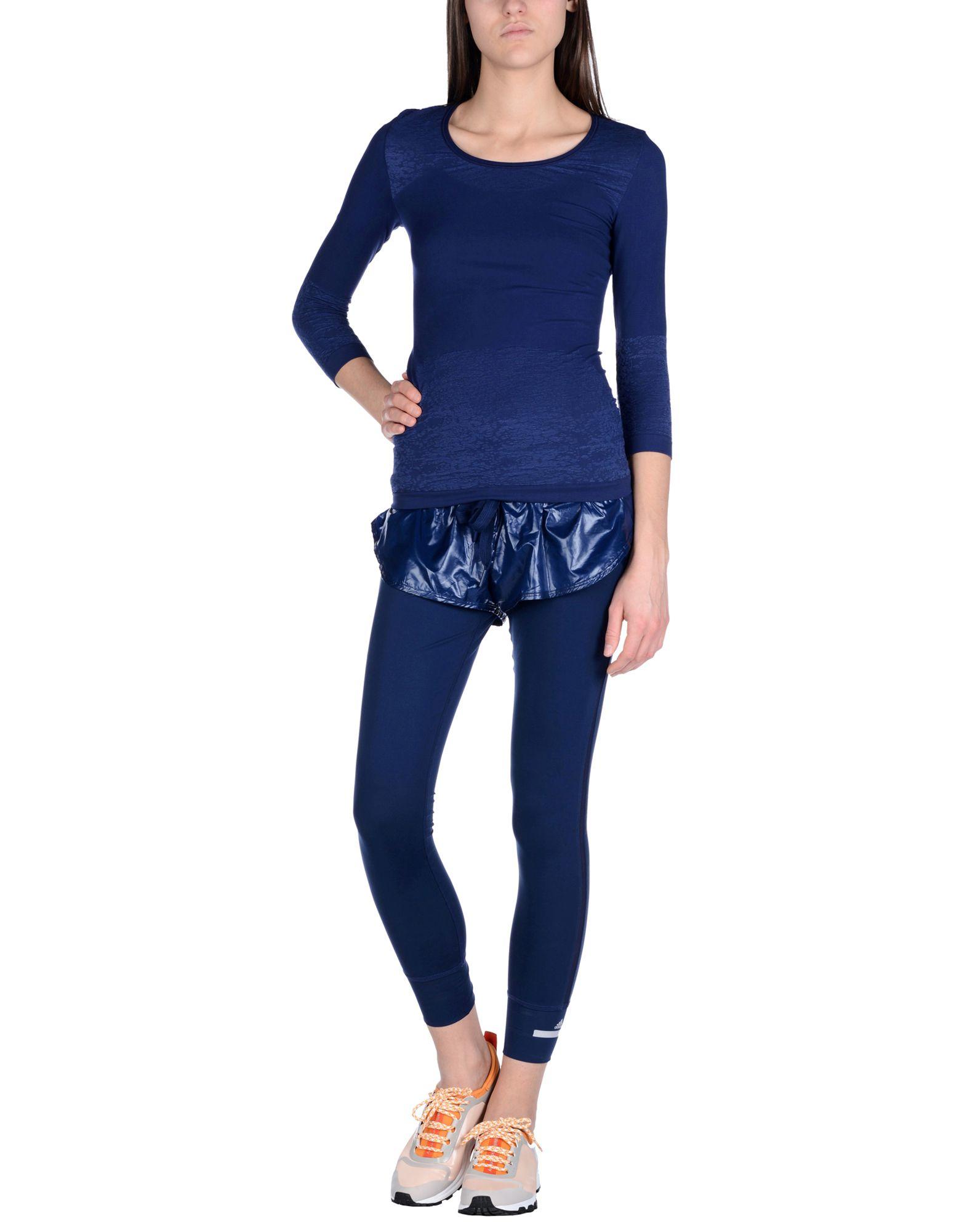 lyst adidas by stella mccartney leggings in blue. Black Bedroom Furniture Sets. Home Design Ideas