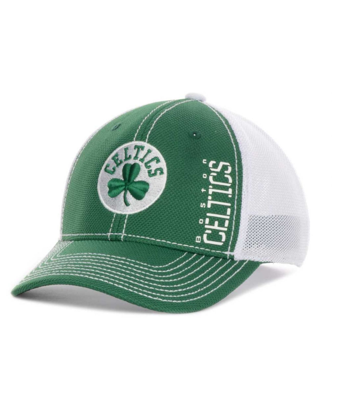 Lyst - Adidas Boston Celtics Nba Zone Mesh Cap in Green ...