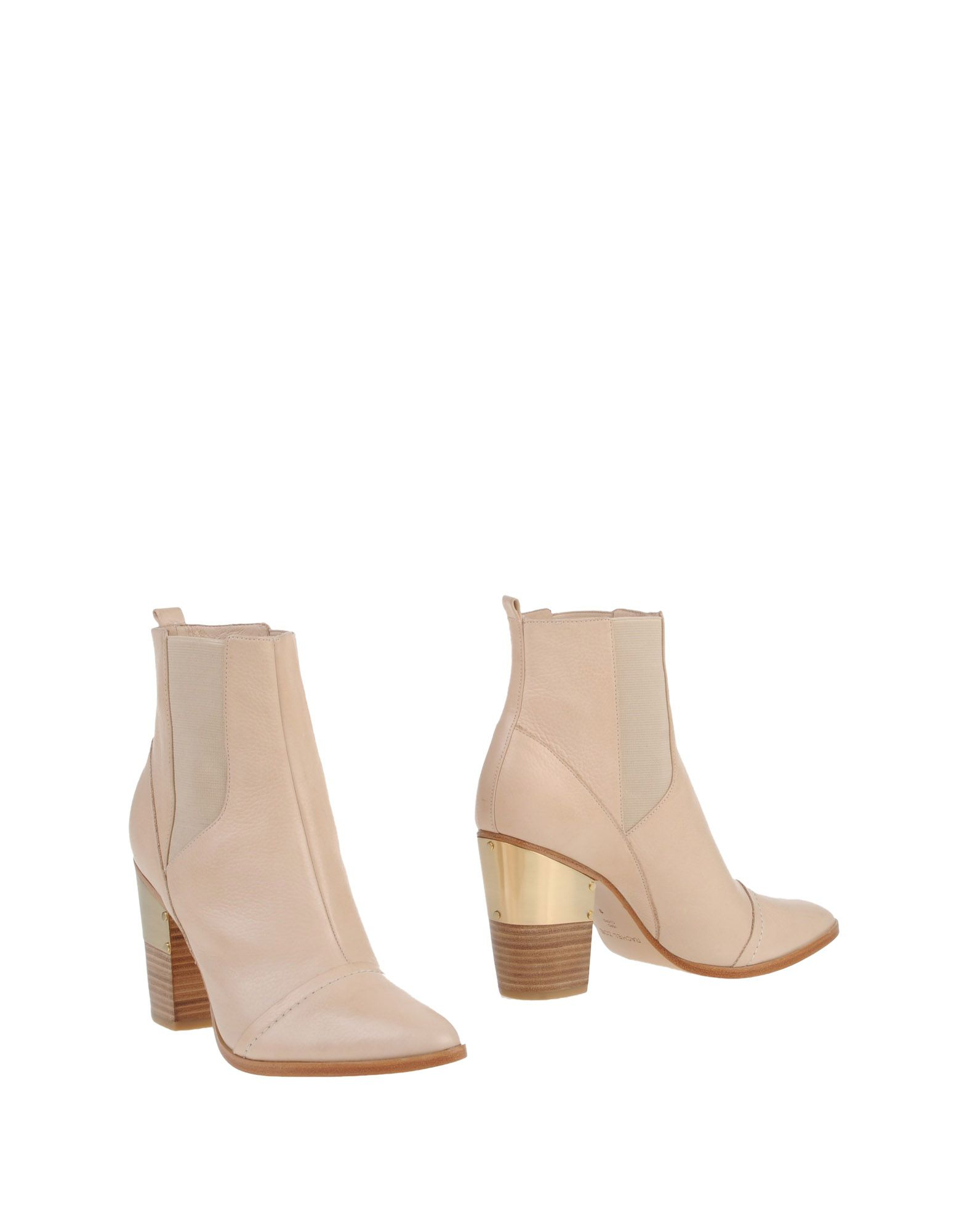zoe ankle boots in white lyst