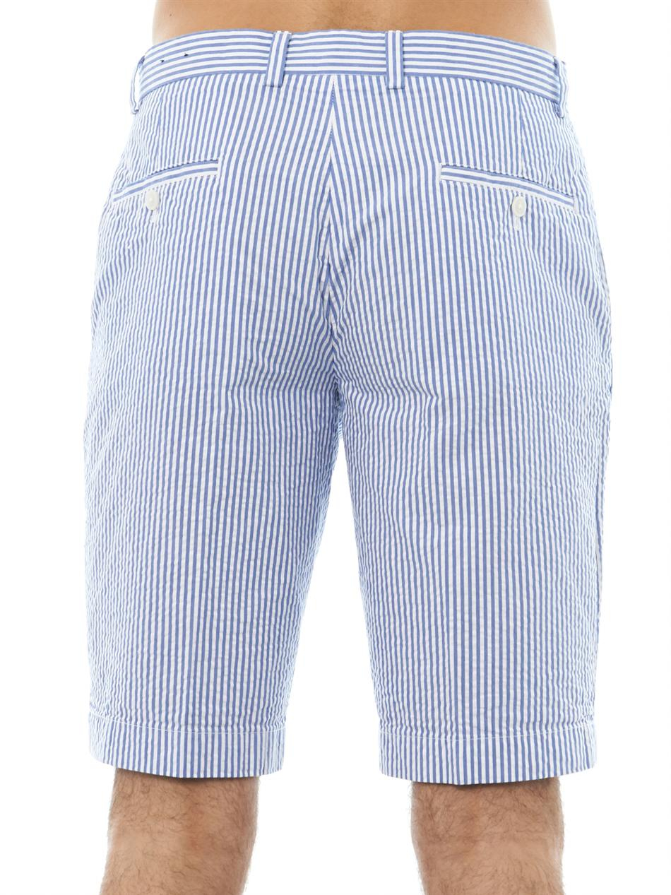 Brooks brothers Striped Seersucker Shorts in Blue for Men | Lyst