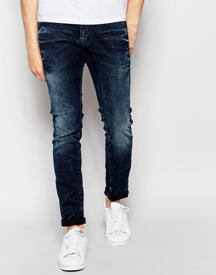 g star raw tapered riley 3d jeans in blue for men lyst. Black Bedroom Furniture Sets. Home Design Ideas