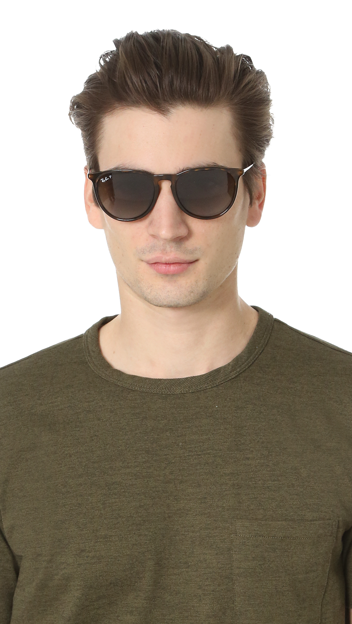 6e1379bd3c8a1 Ray-Ban Full Fit Round Sunglasses in Brown for Men - Lyst
