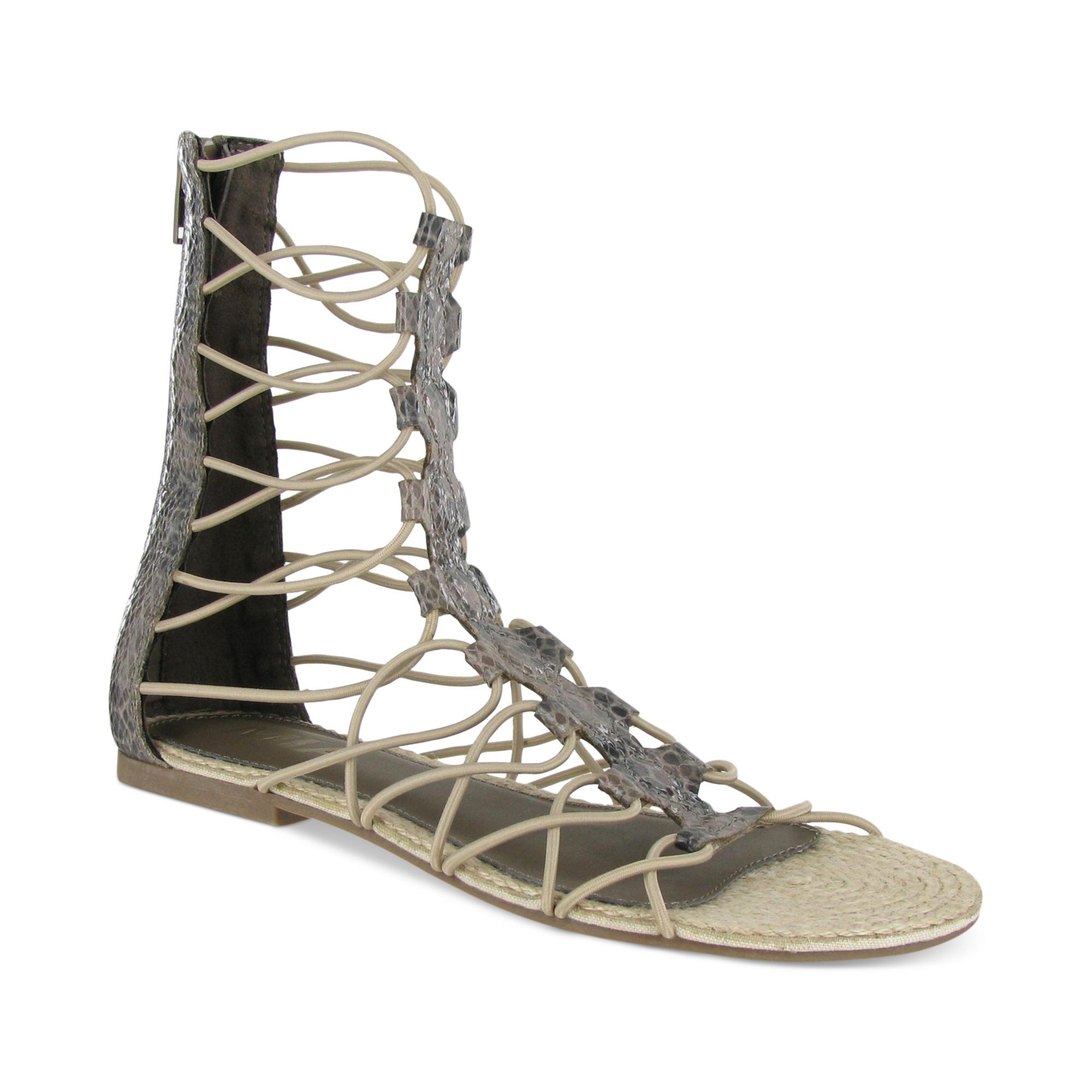 Lyst Mia Livi Gladiator Sandals In Natural