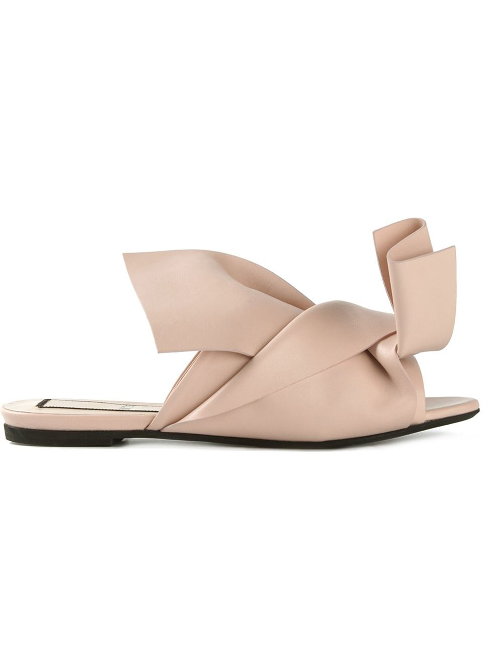 knotted bow mules - Nude & Neutrals N tMngQ8