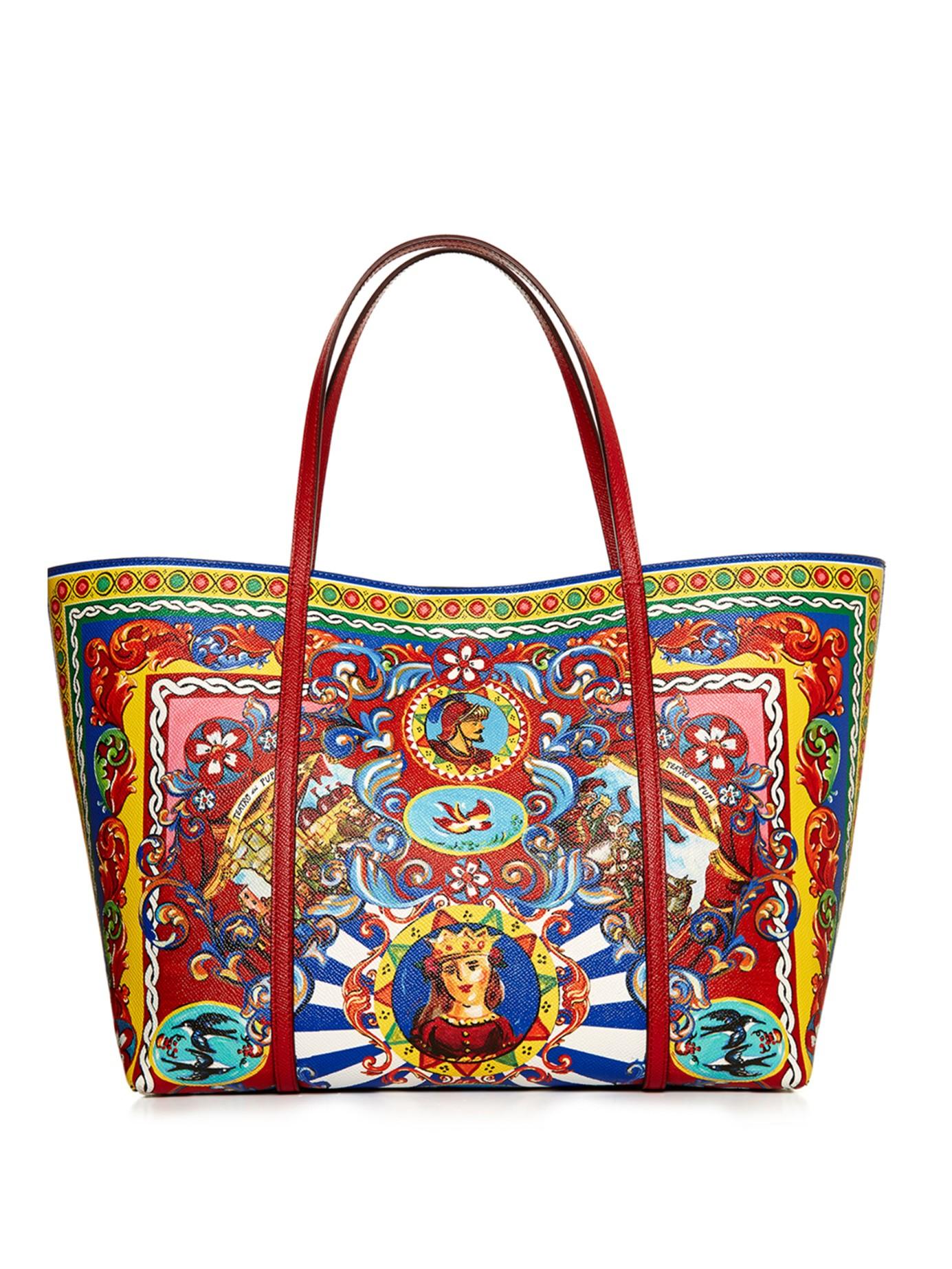 6ce75acc1273 Dolce   Gabbana Escape Carretto-print Tote in Red - Lyst