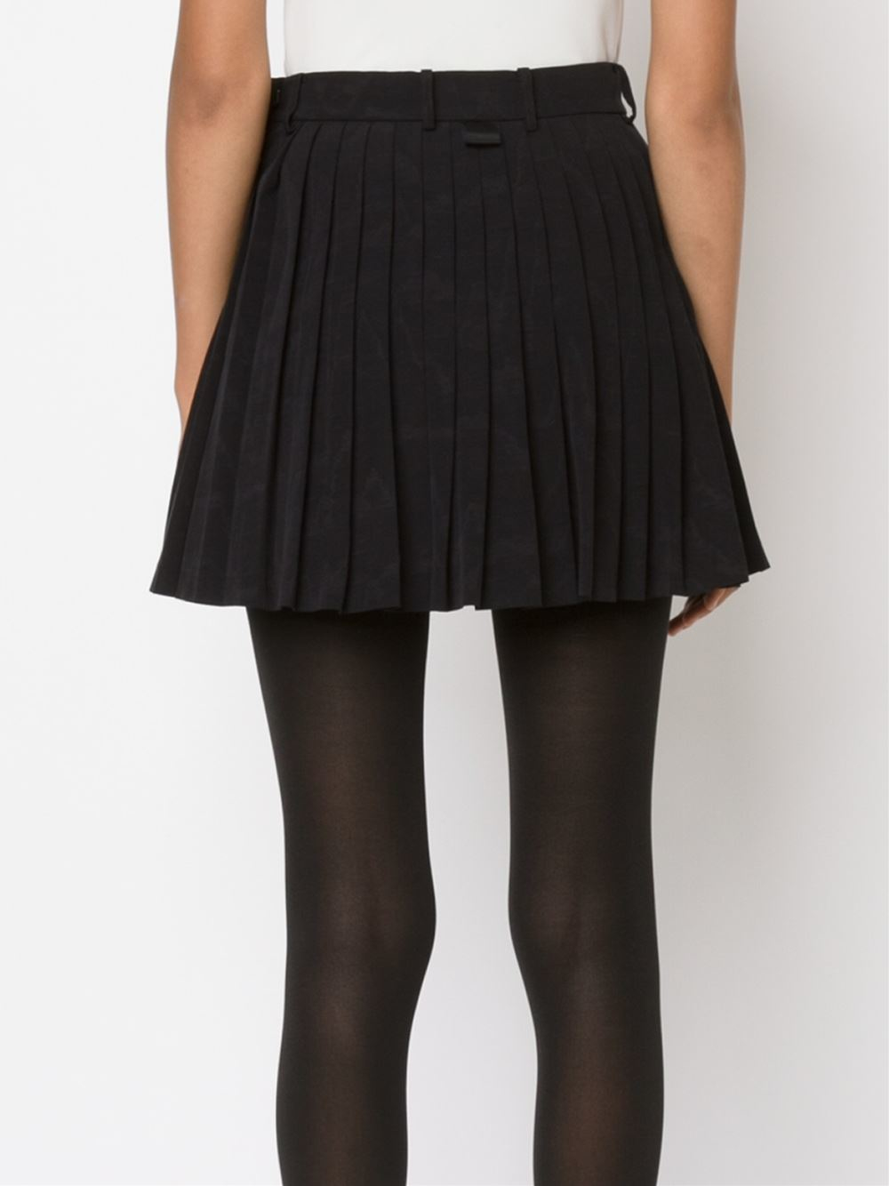 Thom browne Pleated Mini-skirt in Black | Lyst
