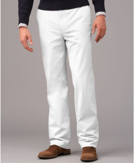 White Chino Mens Chino Pants in White For