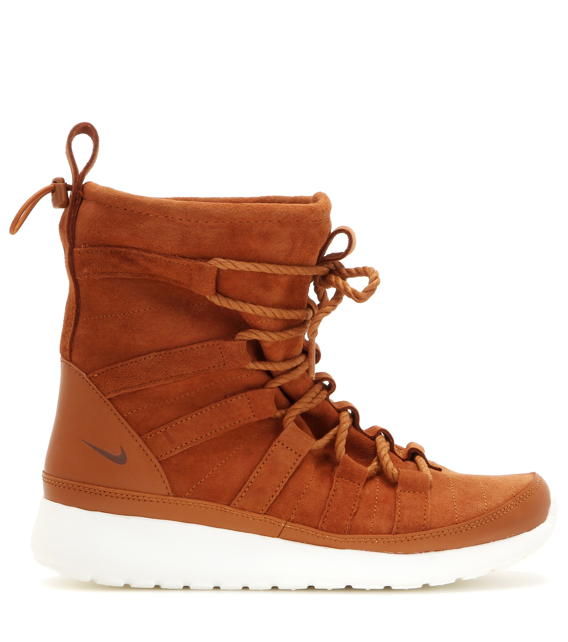 low price a3251 3bacb Nike Roshe One Hi Suede Sneaker Boots in Brown - Lyst