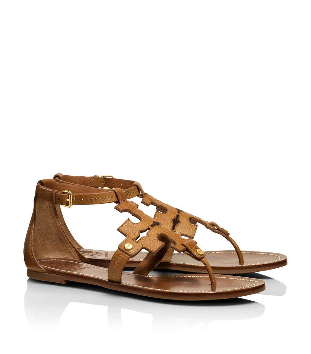 7f58e6ae8491 ... netherlands tory burch phoebe flat thong sandal in brown lyst cc5ea  5f8af